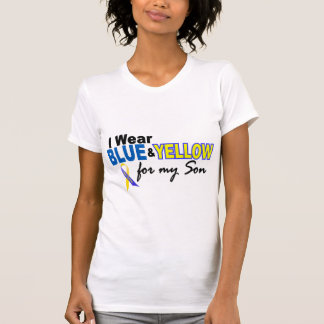 Down Syndrome I Wear Blue & Yellow For My Son 2 Tshirts