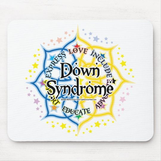 Down Syndrome Lotus Mouse Mat