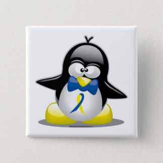 Down Syndrome Penguin 15 Cm Square Badge