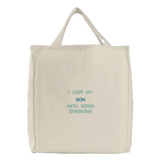 Down Syndrome - Son - Custom Embroidered Bag