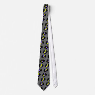 Down Syndrome Yellow Blue Ribbon With Scribble Tie