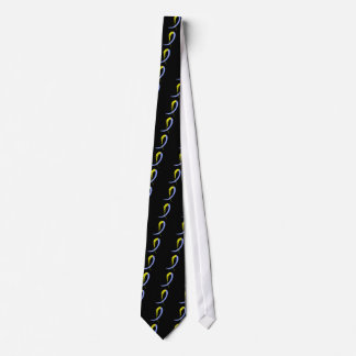 Down Syndrome's Blue And Yellow Ribbon A4 Tie