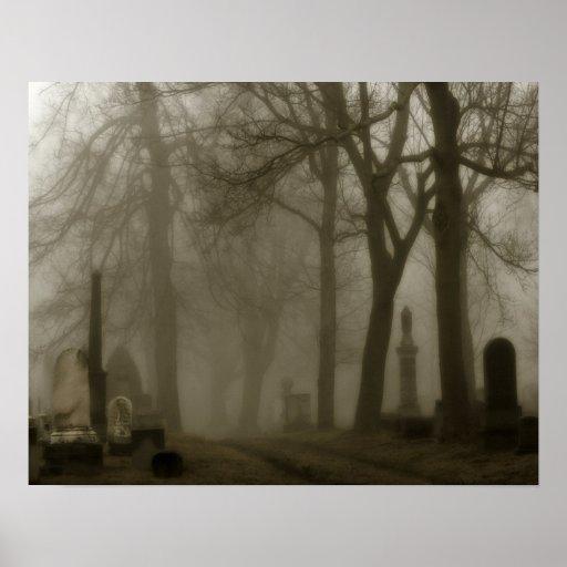 Down The Graveyard Road Print