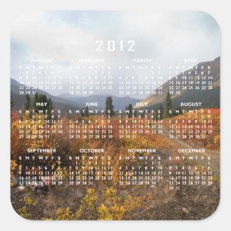 Down the Mountain; 2012 Calendar Square Sticker