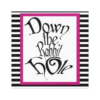 """Down The Rabbit Hole"" Canvas"