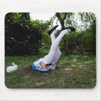 """""""Down the Rabbit Hole"""" mouspad by Cyril Helnwein Mouse Pad"""