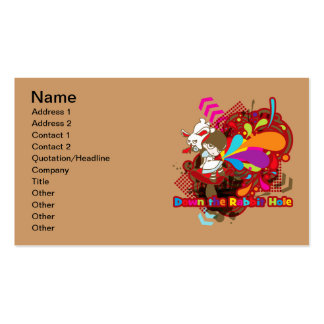Down the Rabbit-Hole Pack Of Standard Business Cards