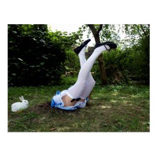 """Down the Rabbit Hole"" postcard by Cyril Helnwein"