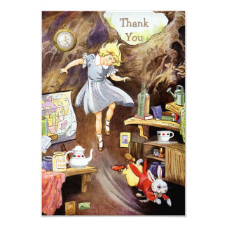 Down the Rabbit Hole Thank You Baby Shower 9 Cm X 13 Cm Invitation Card