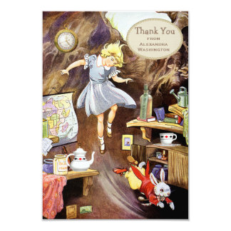 Down the Rabbit Hole Thank You Bridal Shower 9 Cm X 13 Cm Invitation Card