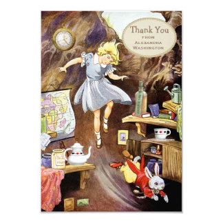 Down the Rabbit Hole Thank You Bridal Shower 9 Cm X 13 Cm Invitation Card