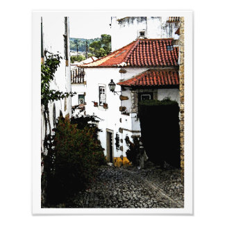 Down the Street in Obidos Portugal Art Photo