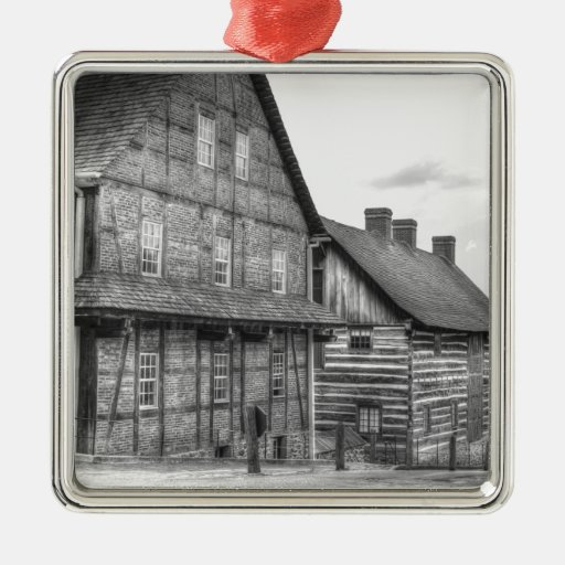 Down The Street In Old Salem Christmas Tree Ornament
