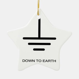 Down to Earth Ceramic Star Decoration