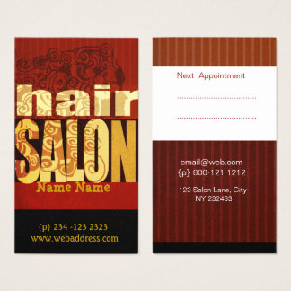 Down to Earth Salon Hair Stylist Makeup Artist Business Card