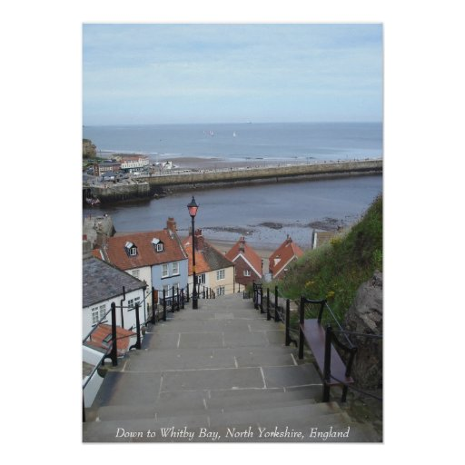Down to Whitby Bay, North Yorkshire, England Poster
