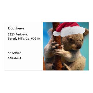 Down Under Christmas Koala Pack Of Standard Business Cards