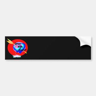 Down With Cupid (black) Bumper Sticker