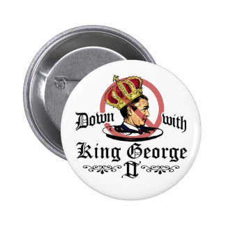 Down With King George Button