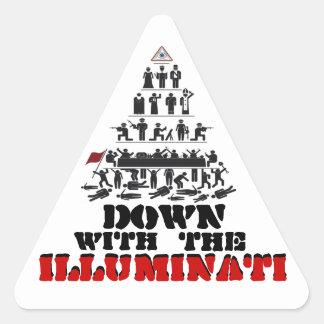Down with the Illuminati Stickers