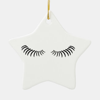 Downcast Eye Lashes Ceramic Star Decoration
