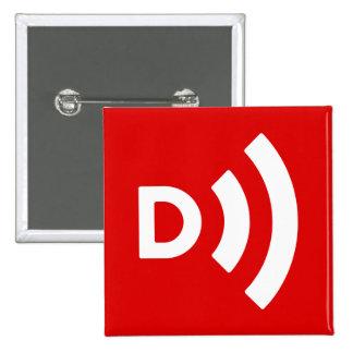 Downcast Logo Square Button