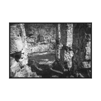 Downfall of the Old Mill Canvas Print