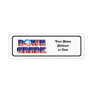 Downgrade Obama Return Address Label