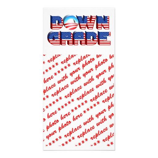 Downgrade Obama Custom Photo Card