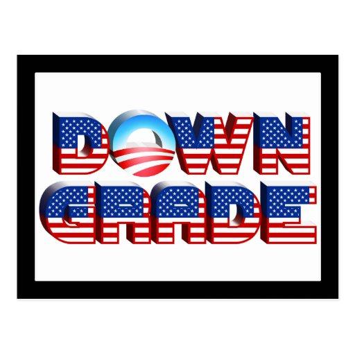 Downgrade Obama Postcards