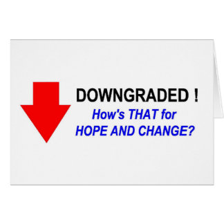 DOWNGRADED! #2 GREETING CARD