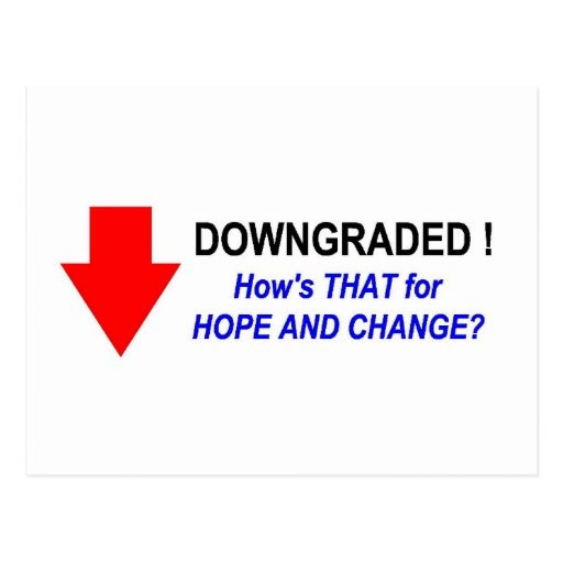 DOWNGRADED! #2 POST CARD