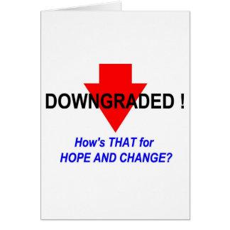 DOWNGRADED! GREETING CARD