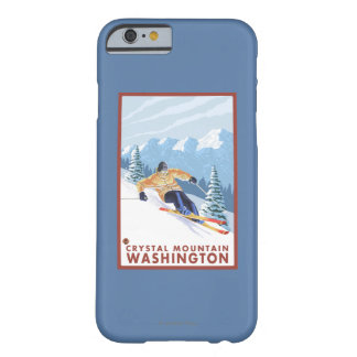 Downhhill Snow Skier - Crystal Mountain, WA Barely There iPhone 6 Case