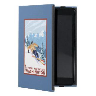Downhhill Snow Skier - Crystal Mountain, WA Case For iPad Mini