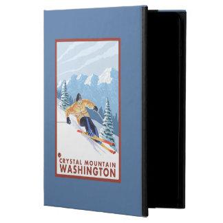 Downhhill Snow Skier - Crystal Mountain, WA iPad Air Cases