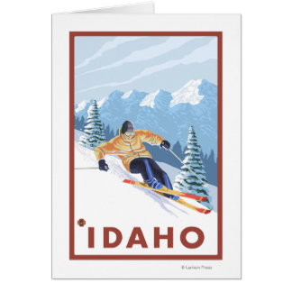 Downhhill Snow Skier - Idaho Card