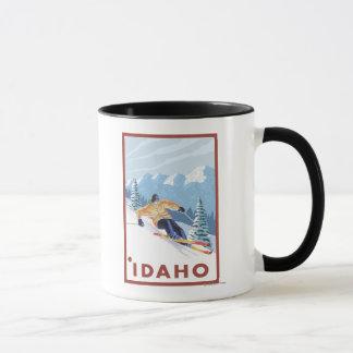 Downhhill Snow Skier - Idaho Mug