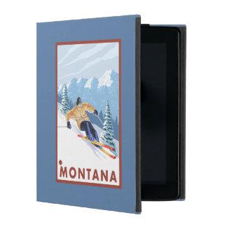 Downhhill Snow Skier - Montana iPad Covers