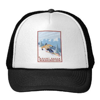 Downhhill Snow Skier - Mount Baker, Washington Cap