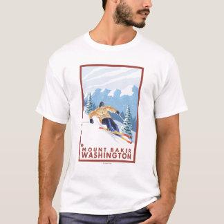 Downhhill Snow Skier - Mount Baker, Washington T-Shirt