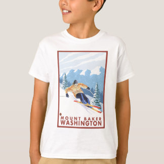Downhhill Snow Skier - Mount Baker, Washington T-Shirt