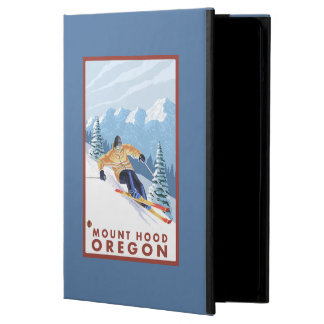 Downhhill Snow Skier - Mount Hood, Oregon iPad Air Covers
