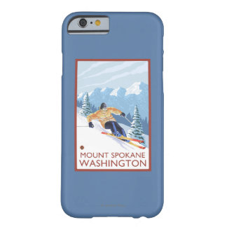 Downhhill Snow Skier - Mount Spokane, Barely There iPhone 6 Case