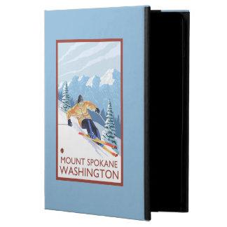 Downhhill Snow Skier - Mount Spokane, Case For iPad Air