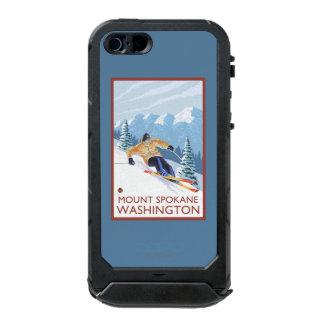 Downhhill Snow Skier - Mount Spokane, Incipio ATLAS ID™ iPhone 5 Case
