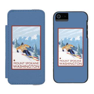 Downhhill Snow Skier - Mount Spokane, Incipio Watson™ iPhone 5 Wallet Case