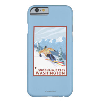 Downhhill Snow Skier - Snoqualmie Pass, WA Barely There iPhone 6 Case