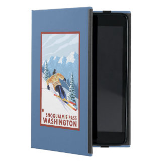 Downhhill Snow Skier - Snoqualmie Pass, WA Cover For iPad Mini