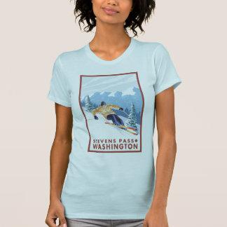 Downhhill Snow Skier - Stevens Pass, Washington T-Shirt